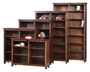 amish handcrafted bookshelves